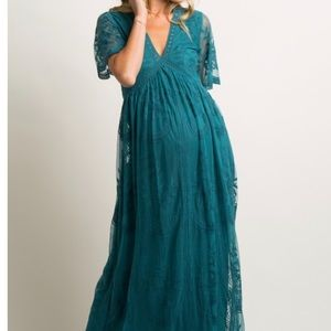 Teal Pinkblush Maternity Dress